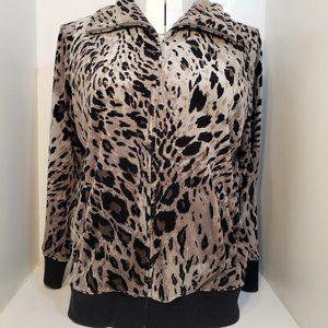 2/$40 NEW 2X coat Jones New York velvety print